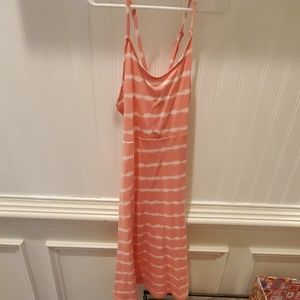 pink and white old navy dress